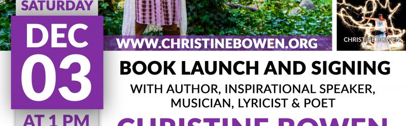 Christine Bowen Coloring Outside the Lines Book Launch Flyer